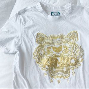 Kenzo | Gold Lion Embroidered Short Sleeve Tshirt